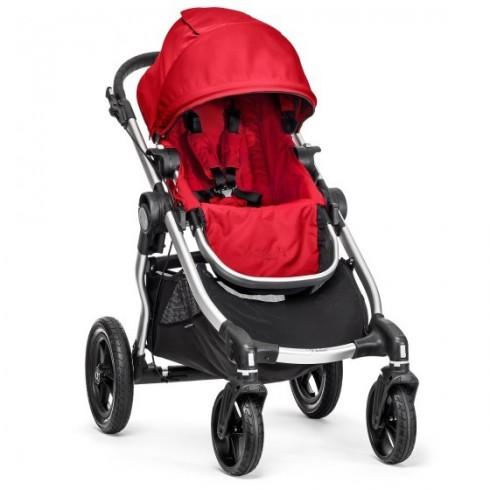 Sportinis vežimėlis Baby Jogger City Select Silver Ruby Red