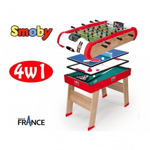 Žaidimų stalas SMOBY 4in1 64001