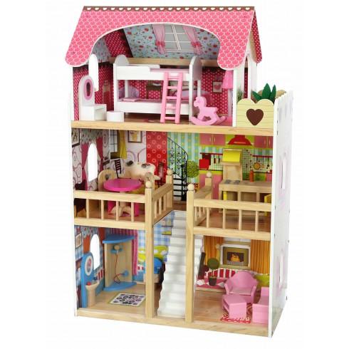 Medinis lėlių namas Eko Žaislas Avietinė rezidencija