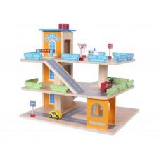Деревянный Трёхэтажный Гараж Eko Toys