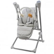 Maitinimo kėdutė - sūpynės Euro Vaikas Pilka