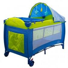 Maniežinė lovytė Euro Vaikas Miegas Mėlyna