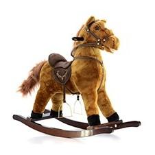 Muzikinis arkliukas Euro Vaikas tamsiai rudas