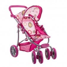 Lėlių vežimėlis Euro Vaikas burbuliukai baltas 2