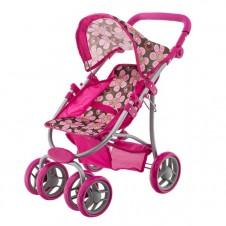 Lėlių vežimėlis Euro Vaikas rudos gėlytės