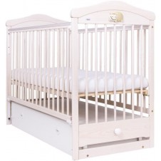 Кроватка Drewex Hippo C Ящиком Transparent