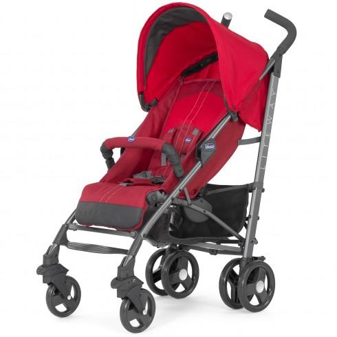 Skėtuko formos vežimėlis Chicco Lite Way Red
