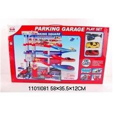 Trasa automobilių stovėjimo aikštelė su mašinomis 1101I081