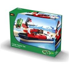 Rinkinys su traukinio bėgiais Brio Cargo harbour 33061
