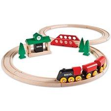 Medinis traukinių rinkinys BRIO 8 dalys 33028