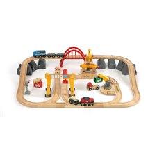 Brio rinkinys su traukinio bėgiais Railway deluxe, 33097