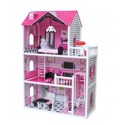 Medinis lėlių namas WT Rožė