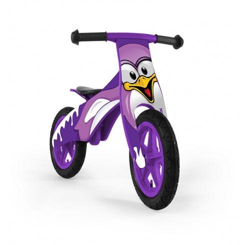 Medinis balansinis dviratukas M&M Duplo Pingwin