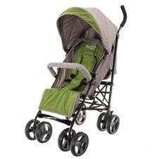 Skėtuko formos vežimėlis Euro Vaikas Smart Pro Kreminė-žalia