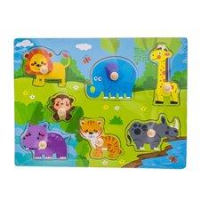 Medinė dėlionė Euro Vaikas Safari WTS62542