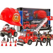 Duża Straż Pożarna Auto Kask quad strażacy ZA1158