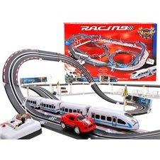 2w1 Wielki tor wyścigowy kolejka i auto RC0335