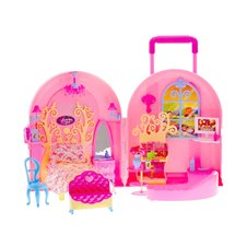 Nešiojamas namas - lagaminas lėlėms Jokomi ZA0177