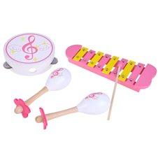 Drewniane instrumenty cymbałki tamburyn IN0085