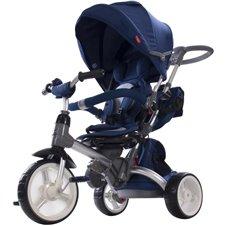 Triratukas su pasukama sėdyne Saulės Vaikas Little Tiger Tamsiai mėlynas