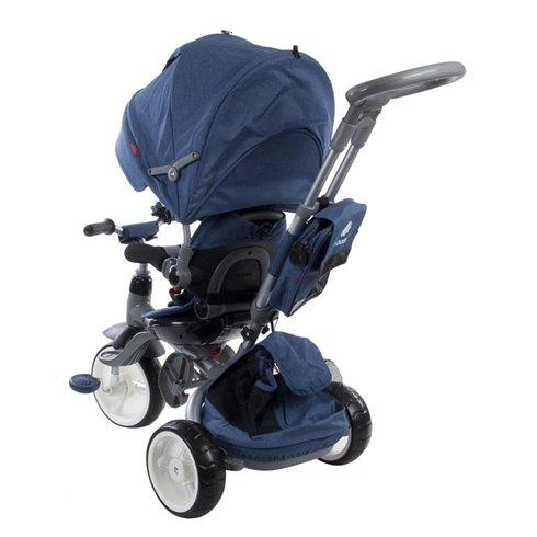 Triratukas su pasukama sėdyne Saulės Vaikas Little Tiger Mėlynas