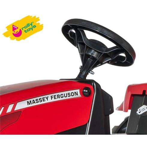 Minamas traktorius Rolly Toys Kid Masey Ferguson su priekaba