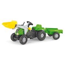Minamas traktorius Rolly Toys Kid su priekaba ir kaušu