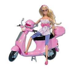 Lėlė SIMBA Steffi Love Su mopedu