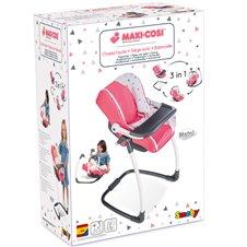 Maitinimo kėdutė lėlei SMOBY Maxi Cosi 3in1