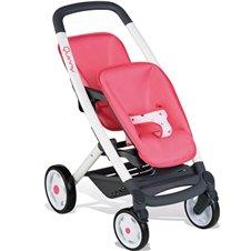Lėlių vežimėlis SMOBY Maxi Cosi Dvynukams
