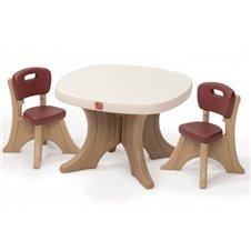 Staliukas su kėdutėmis STEP2 Brown