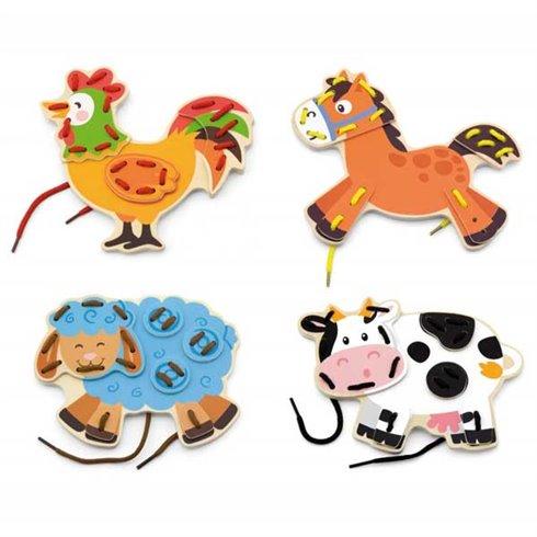Žaidimas VIGA Vėriami fermos gyvūnai