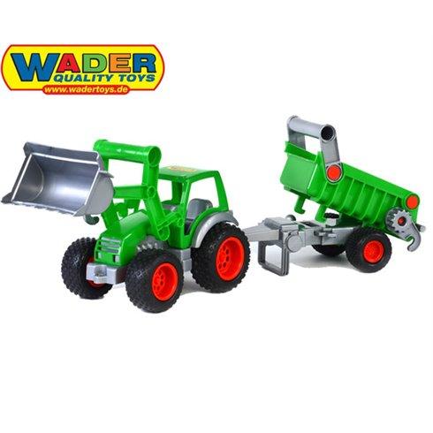 Traktorius Wader QT su kaušu ir priekaba