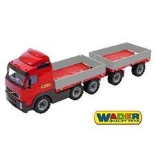 Sunkvežimis Wader Raudona Volvo su priekaba