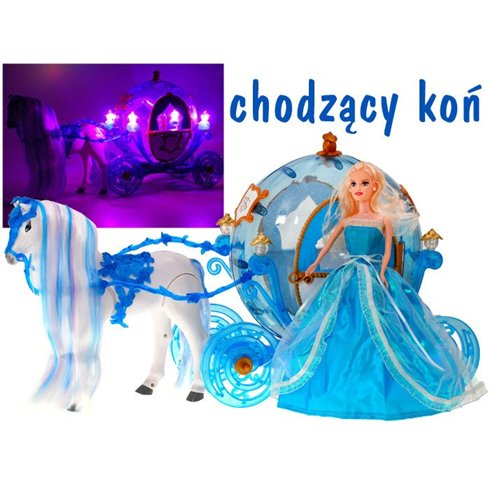Cinderella + carriage horse with a mane comes neighs ZA1362