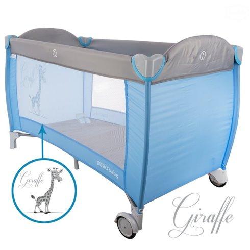 Maniežinė lovytė Euro Vaikas Mėlyna žirafa