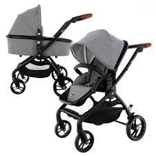 Universalus vežimėlis Euro Vaikas WINNER Brown/Grey 2in1