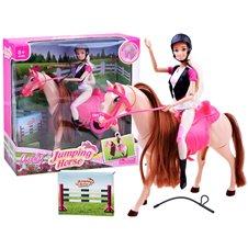 Lalka Anlily Dżokejka z koniem chodzący koń ZA2454