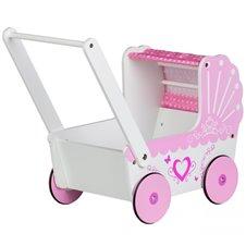 Medinis lėlių vežimėlis-lopšelis Eko Žaislas