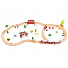 Medinė traukinių trasa Eko Žaislas 78 el.