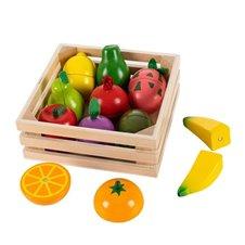 Medinis pjaustomų vaisių rinkinys Eko Žaislas