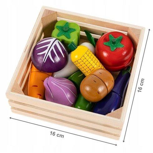 Medinis pjaustomų daržovių rinkinys Eko Žaislas