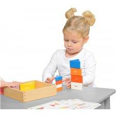 Medinis žaidimas vaikams Masterkidz spalvoti blokeliai ir trikampiai