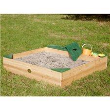 """Medinė smėlio dėžė su """"Amy Sandpit AXI"""" daiktų saugykla"""