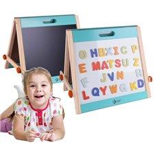 Medinė magnetinė stalo lenta su raidėmis Classic World