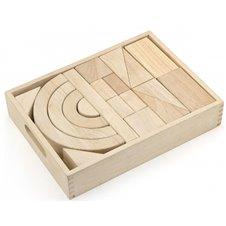Medinės kaladėles Viga Toys 42 elementai
