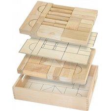 Medinės kaladėles Viga Toys 46 elementai