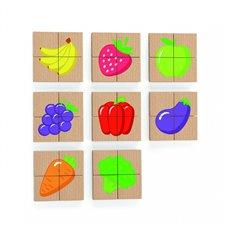 Medinė magnetinė Vaisių daržovių dėlionė Viga Toys