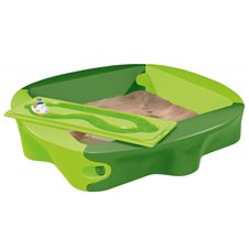 Smėlio dėžė su dangčiu BIG Žalia
