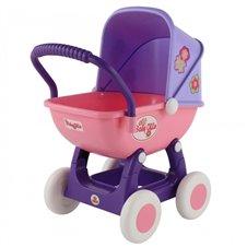 Didelis vežimėlis lėlėms 43cm Wader QT Arina rožinės ir violetinės spalvos